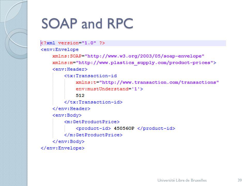 SOAP and RPC Université Libre de Bruxelles39