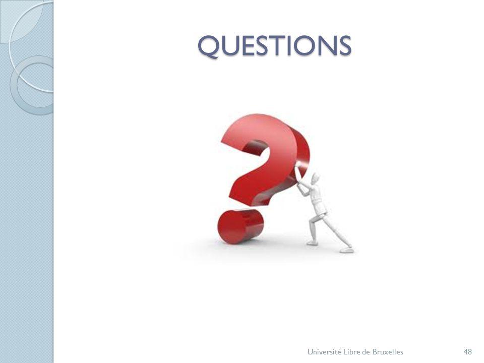 QUESTIONS Université Libre de Bruxelles48