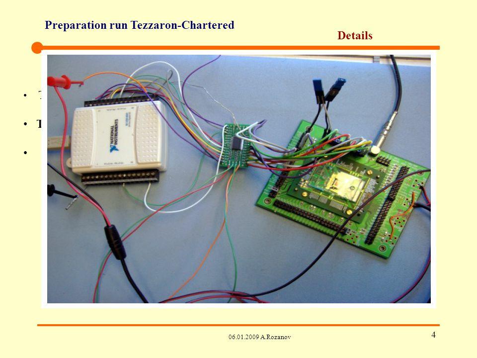 Preparation run Tezzaron-Chartered 06.01.2009 A.Rozanov 5 Details Test set-up de Bonn – must Test set-up de LBNL – optionel