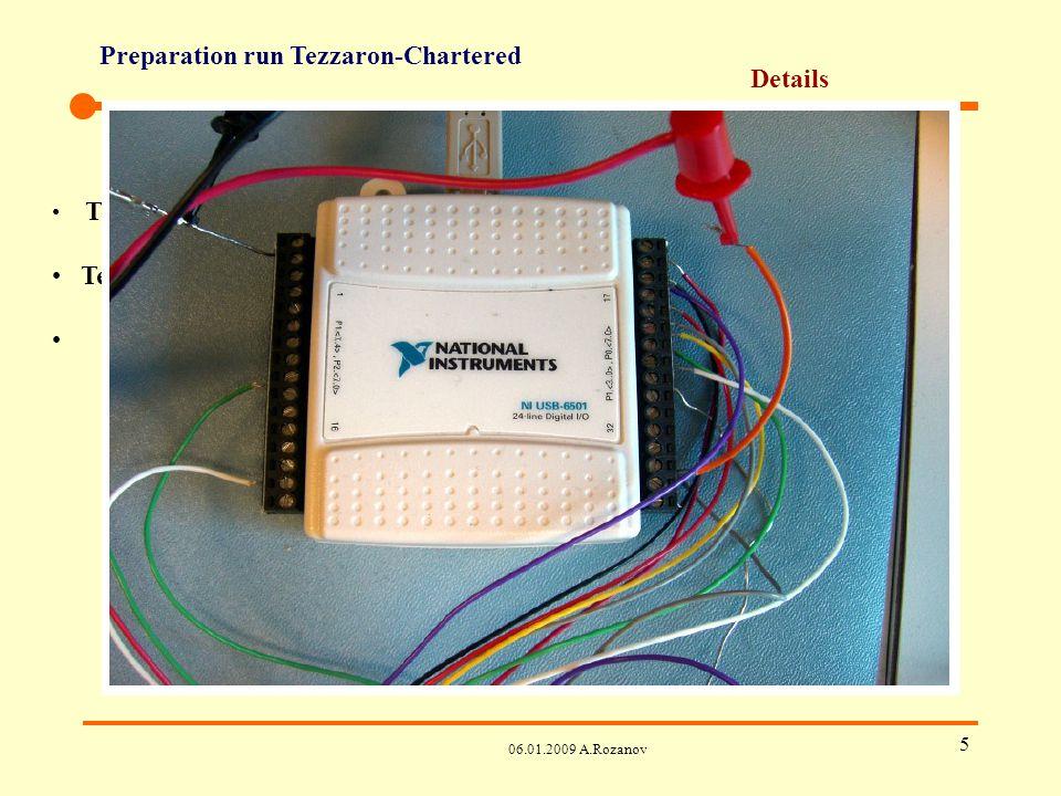 Preparation run Tezzaron-Chartered 06.01.2009 A.Rozanov 6 Details Test set-up de Bonn – must Test set-up de LBNL – optionel