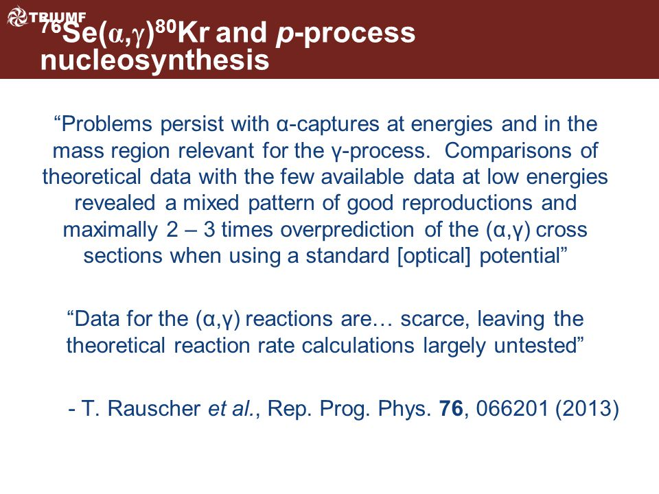 Problems persist with α-captures at energies and in the mass region relevant for the γ-process.