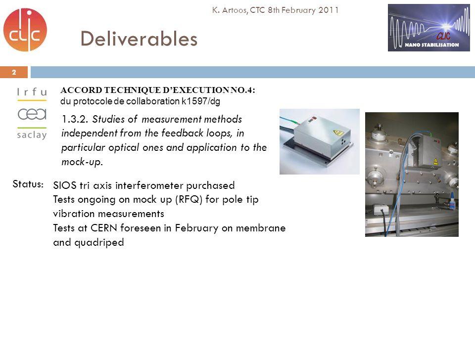 Deliverables 3 K.