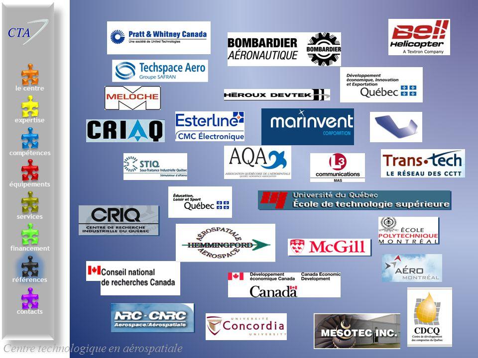 Centre technologique en aérospatiale le centre contacts services compétences équipements références expertise financement