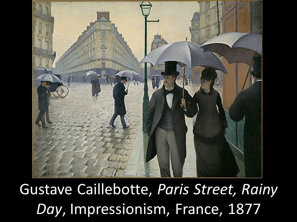 Gustave Caillebotte, Paris Street, Rainy Day, Impressionism, France, 1877