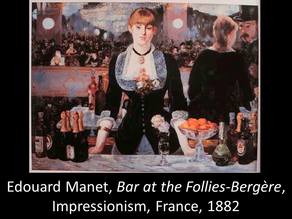 Edouard Manet, Bar at the Follies-Bergère, Impressionism, France, 1882