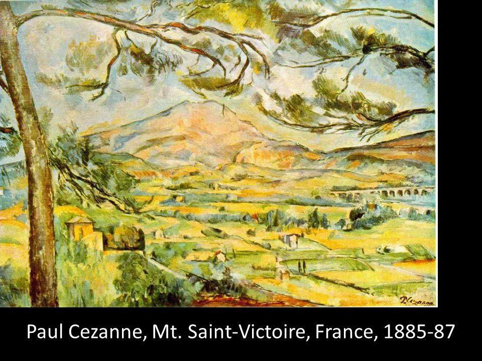 Paul Cezanne, Mt. Saint-Victoire, France, 1885-87