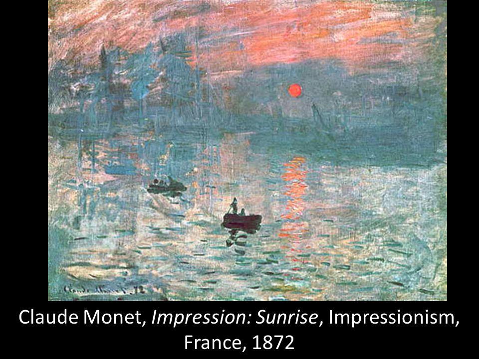 Claude Monet, Impression: Sunrise, Impressionism, France, 1872