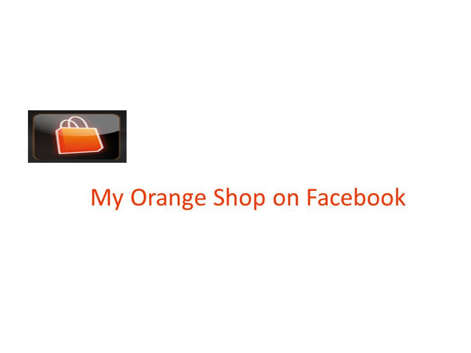 My Orange Shop on Facebook