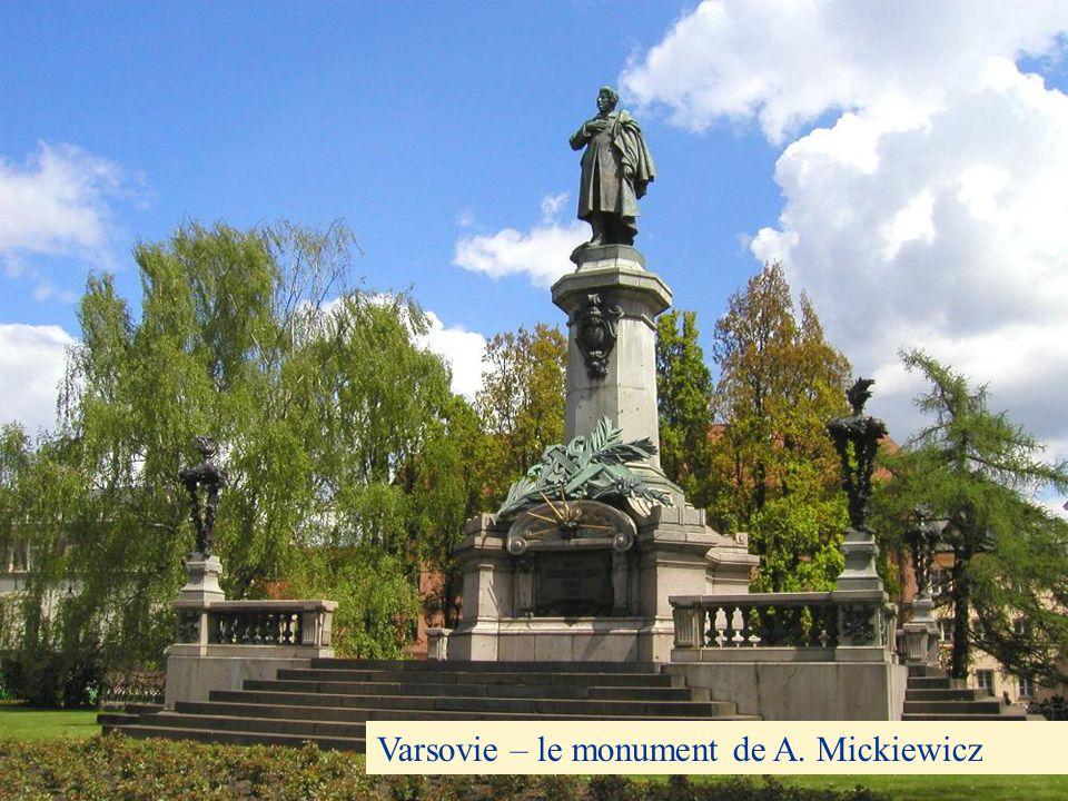 Varsovie – le monument de A. Mickiewicz