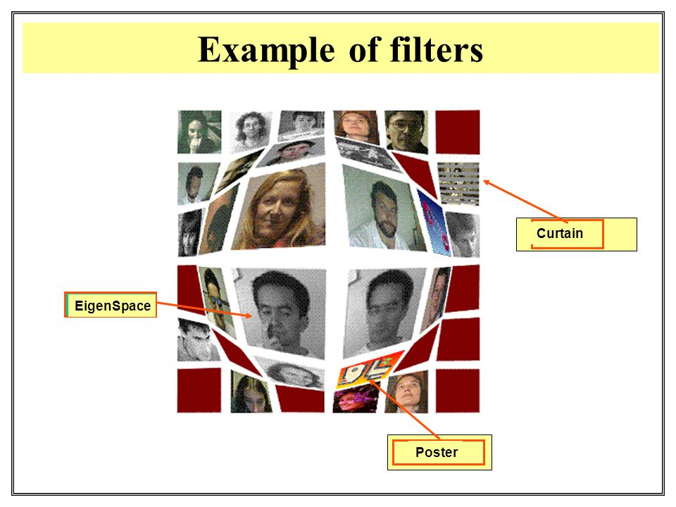 Example of filters Poster Curtain EigenSpace