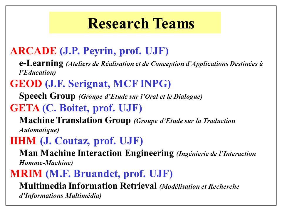Research Teams ARCADE (J.P. Peyrin, prof.