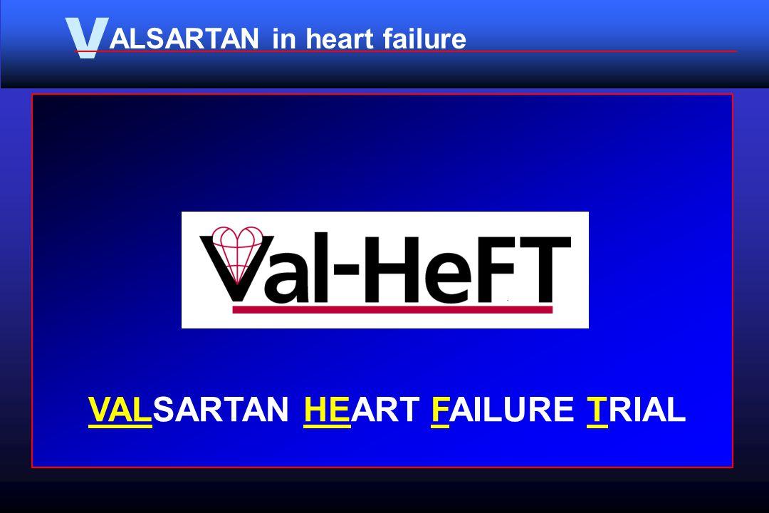 V ALSARTAN in heart failure VALSARTAN HEART FAILURE TRIAL