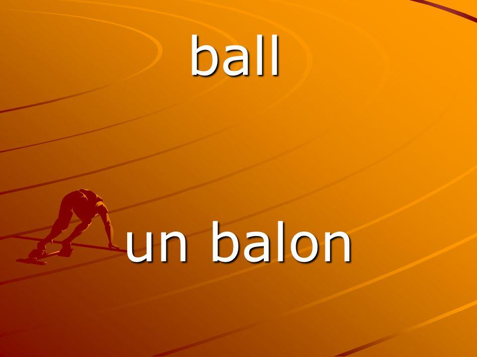 un balon ball