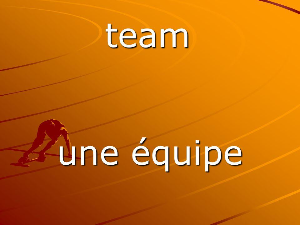 une équipe team