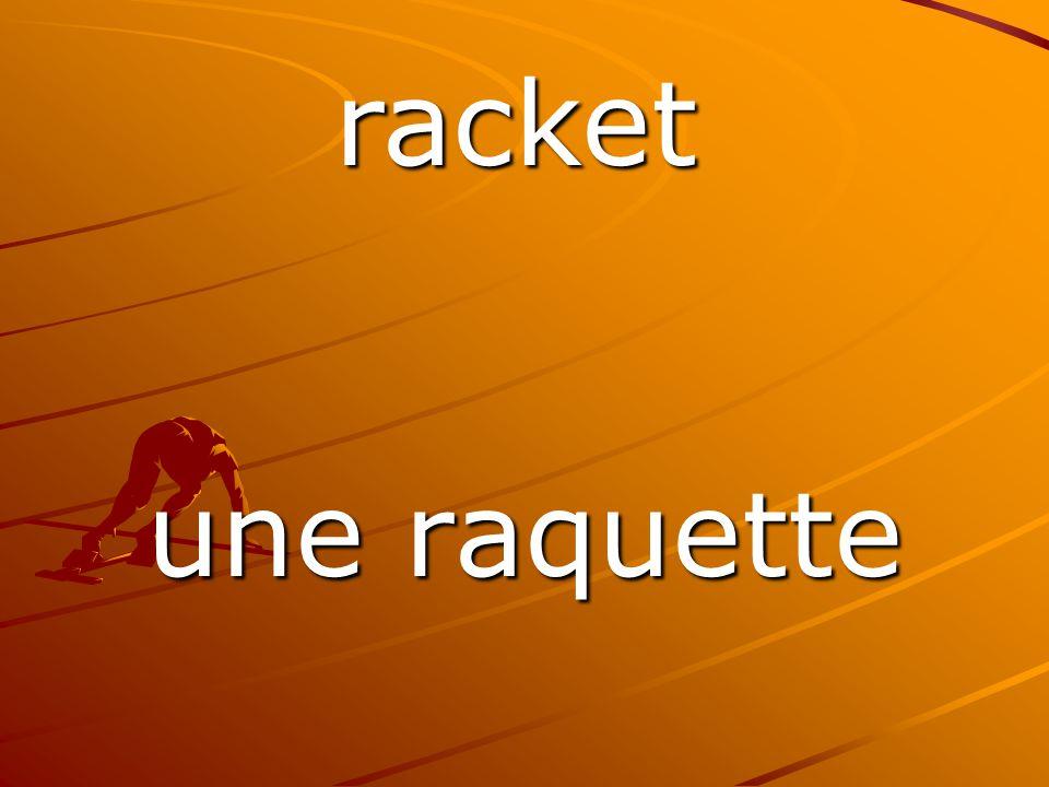 une raquette racket