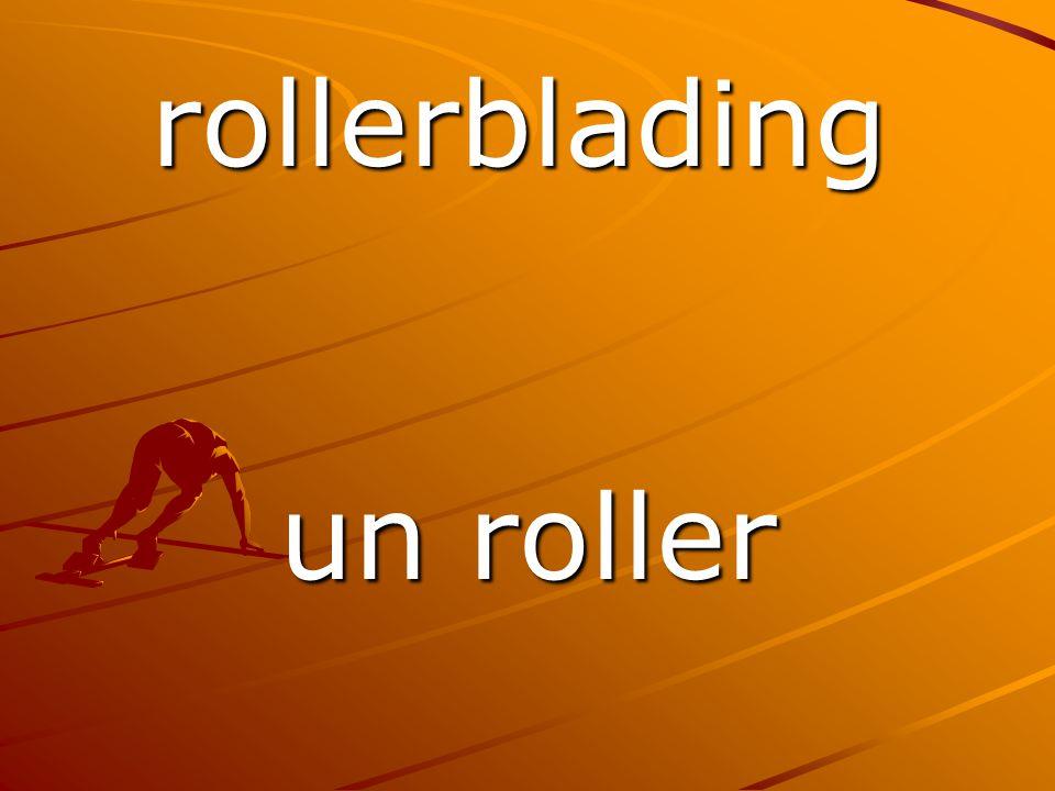 un roller rollerblading