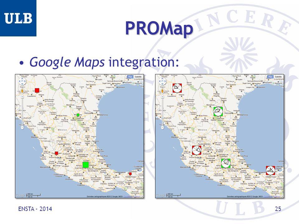 PROMap Google Maps integration: ENSTA - 2014 25
