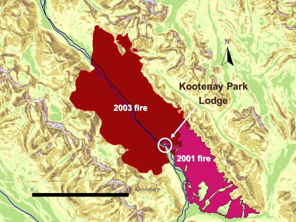 Kootenay Park Lodge 2003 fire 2001 fire