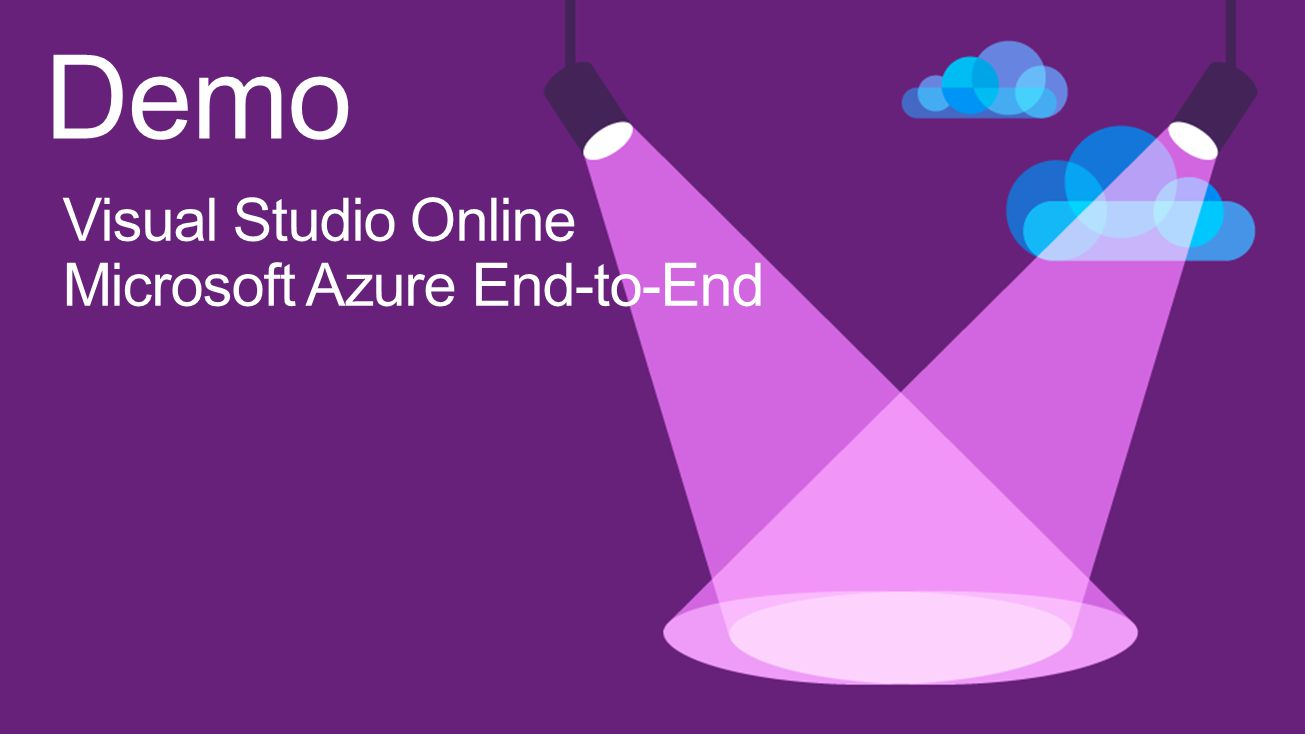 Demo Visual Studio Online Microsoft Azure End-to-End