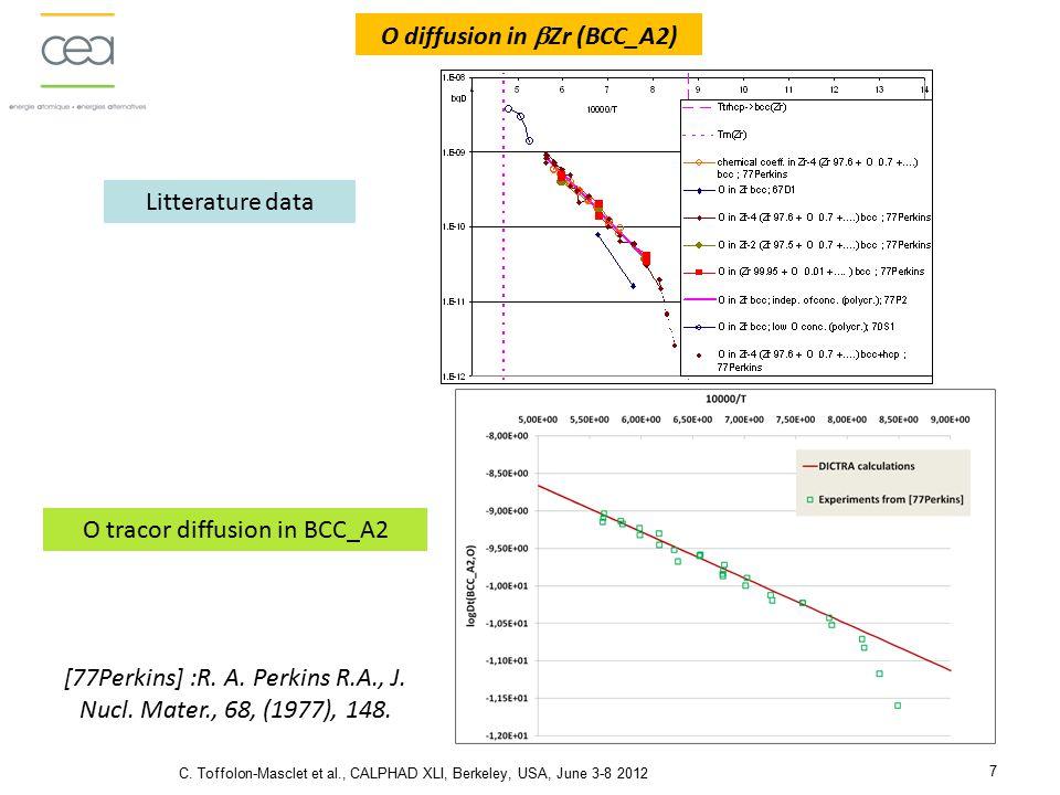 Zircobase : Thermodynamic database for Zr alloys C.