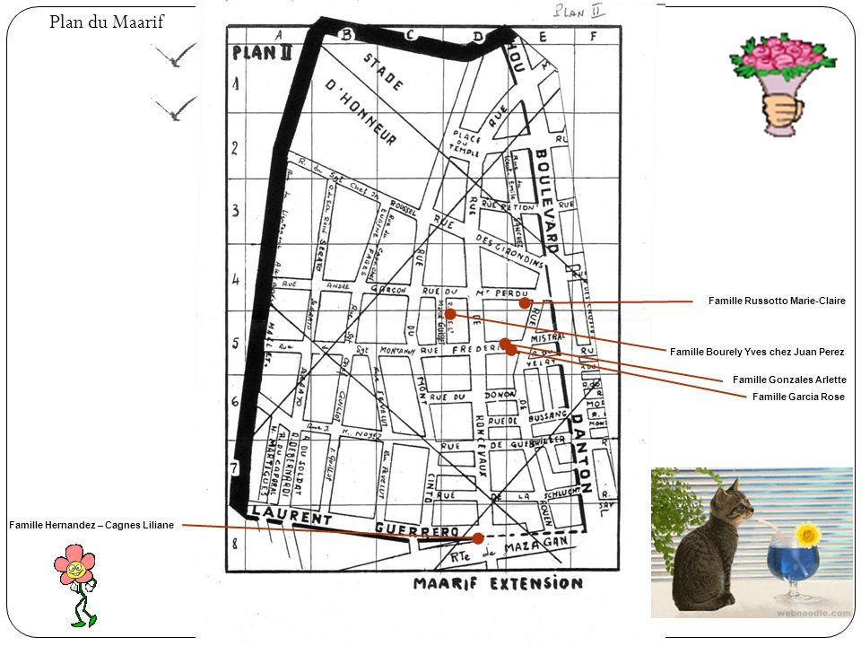 Plan du Maarif Le Marché Petit Jardin en face du « Mondial » Cinéma « Rex » Cinéma « Le Familia » et le local des « Copains » Ecole « Dominique Savio