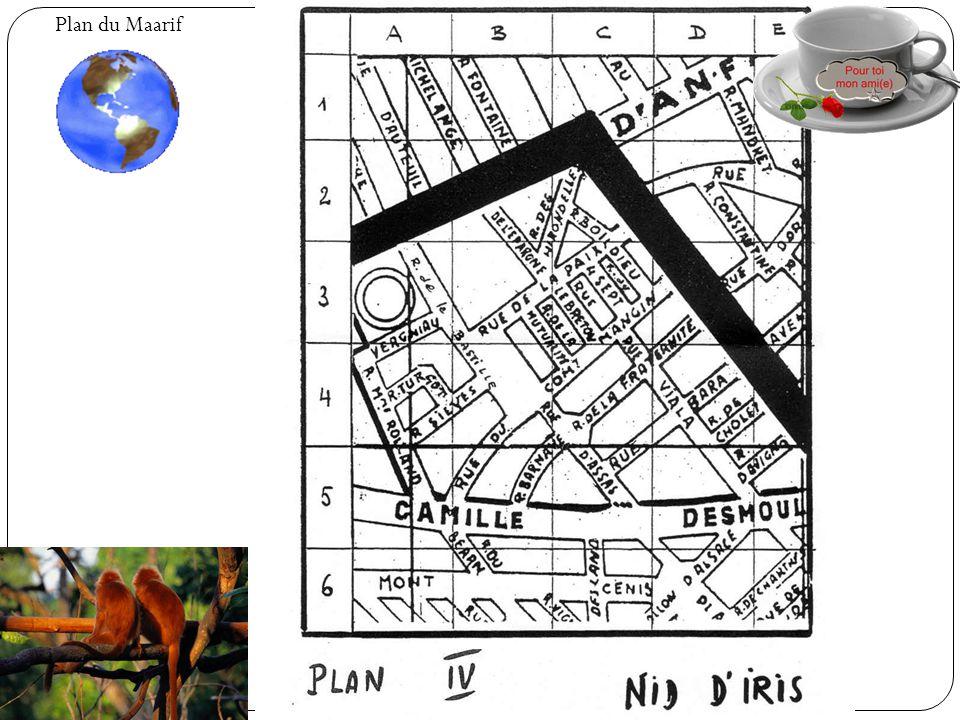 Plan du Maarif Famille Lacroix Jean, Georges et Pierrot Famille Combasson Zazi et Clement Famille Leroy Jean-Pierre Famille Pacheu Marie-France, Evely