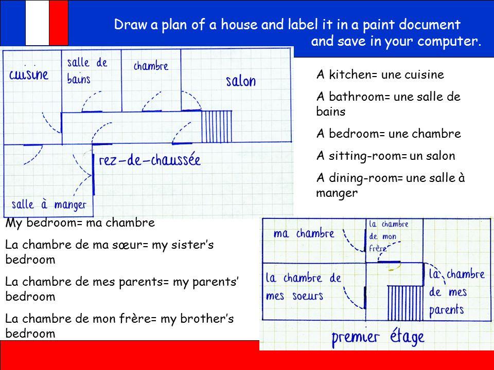 Les pièces de la maison – rooms of the house Encore Tricolore Unité 3 Learn the rooms of the house with the games.