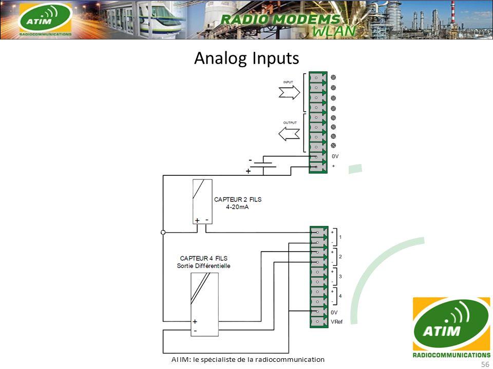 Analog Inputs ATIM: le spécialiste de la radiocommunication 56