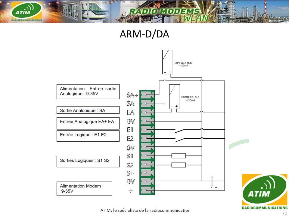 ARM-D/DA ATIM: le spécialiste de la radiocommunication 72