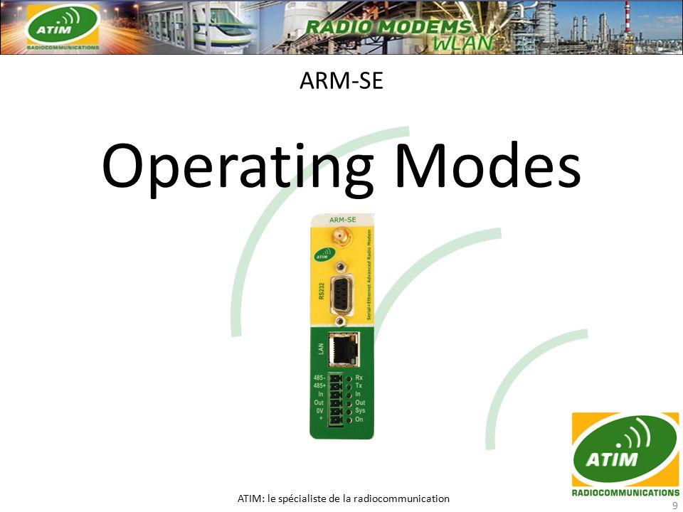 Operating Modes ARM-SE ATIM: le spécialiste de la radiocommunication 9