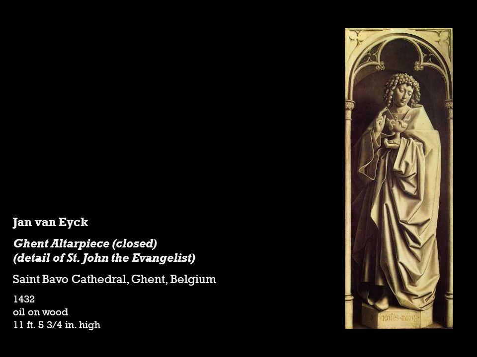 Jan van Eyck Ghent Altarpiece (closed) (detail of St.