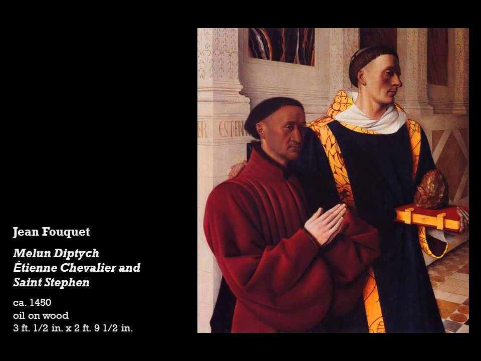 Jean Fouquet Melun Diptych É tienne Chevalier and Saint Stephen ca.