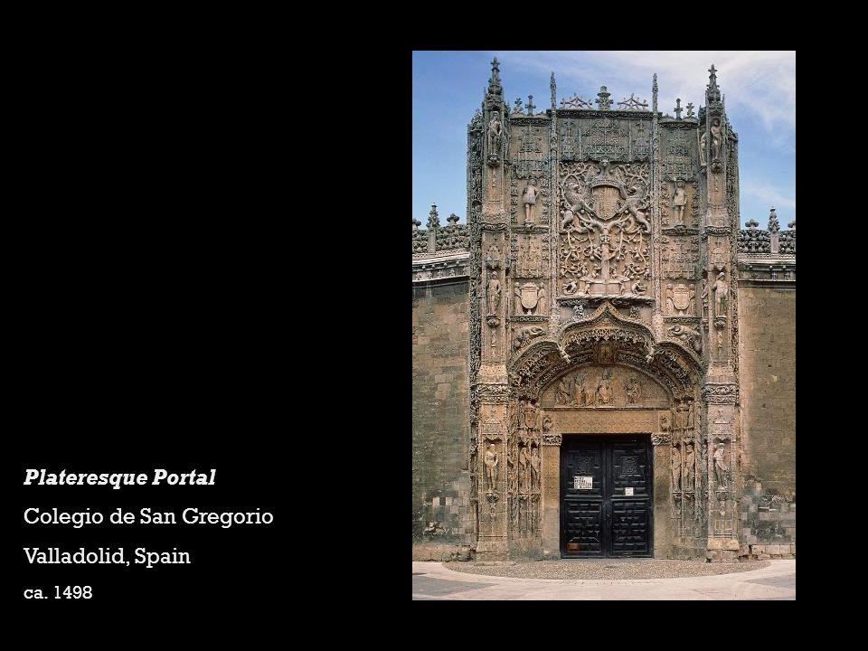 Plateresque Portal Colegio de San Gregorio Valladolid, Spain ca. 1498
