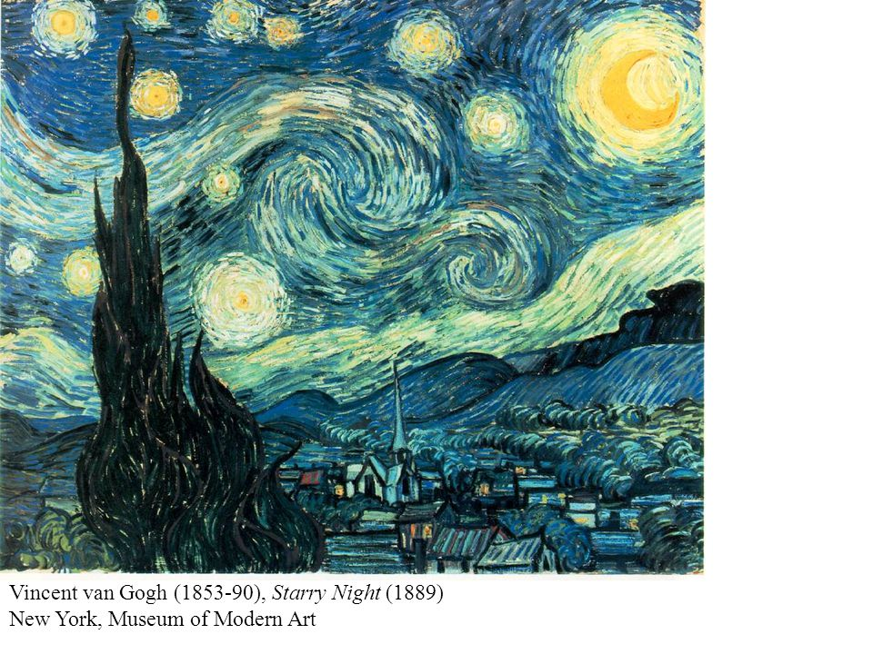 Vincent van Gogh (1853-90), Starry Night (1889) New York, Museum of Modern Art
