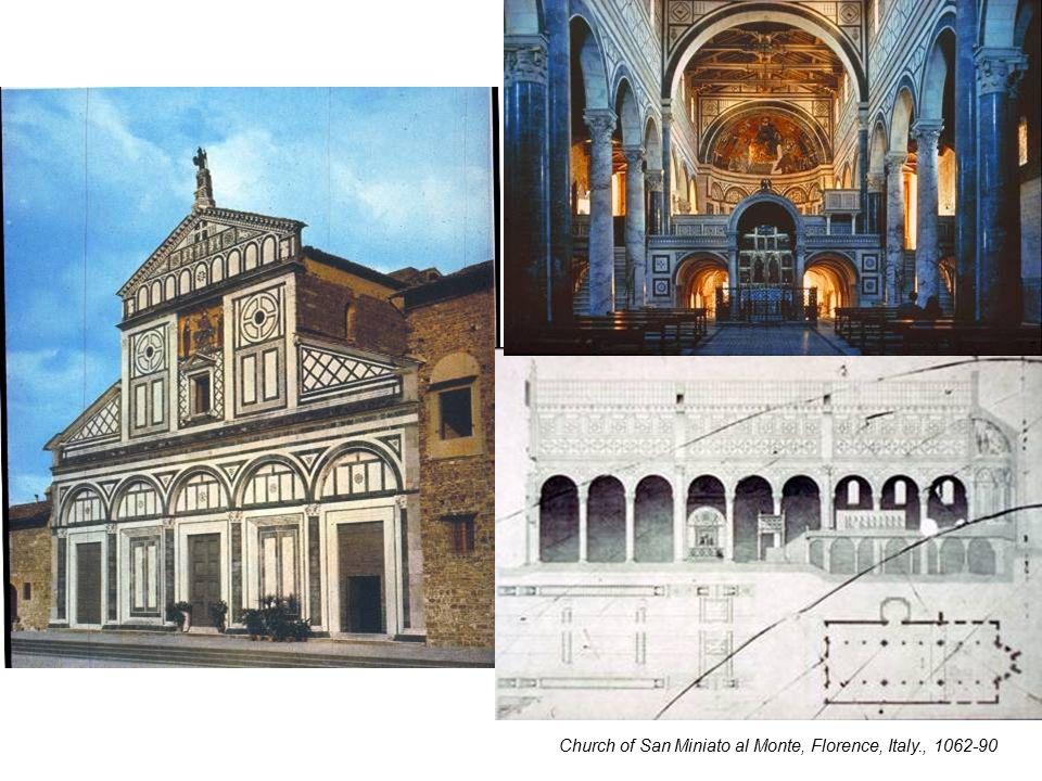 Church of San Miniato al Monte, Florence, Italy., 1062-90