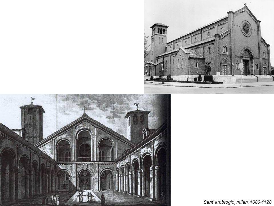 Sant' ambrogio, milan, 1080-1128
