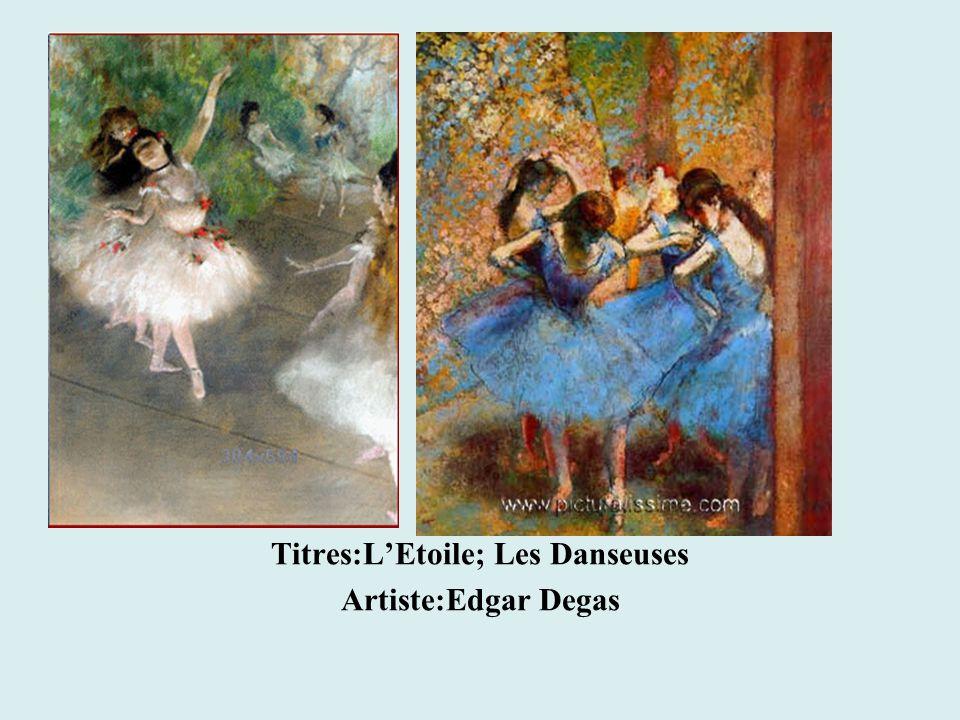 Titres:L'Etoile; Les Danseuses Artiste:Edgar Degas