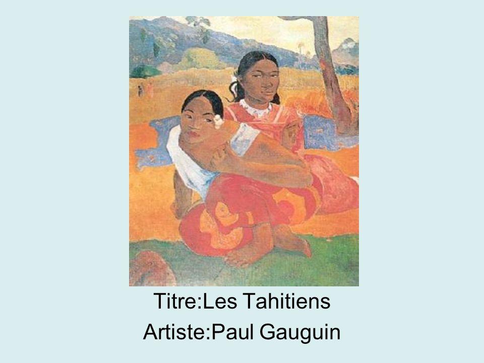 Titre:Les Tahitiens Artiste:Paul Gauguin