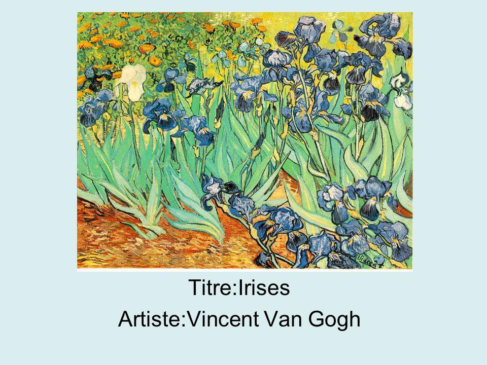 Titre:Irises Artiste:Vincent Van Gogh