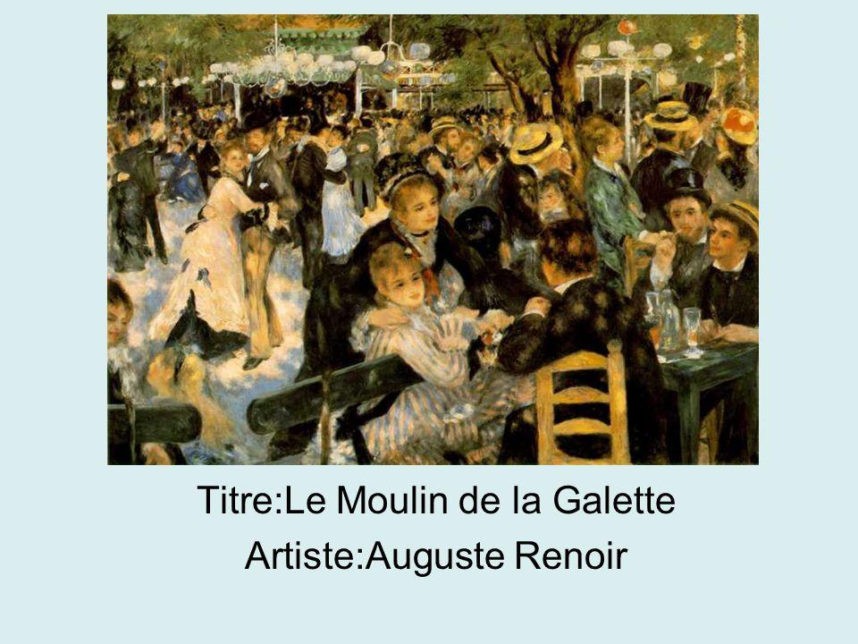 Titre:Le Moulin de la Galette Artiste:Auguste Renoir