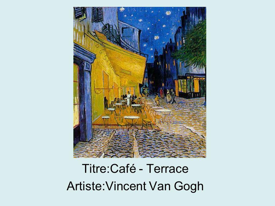 Titre:Café - Terrace Artiste:Vincent Van Gogh