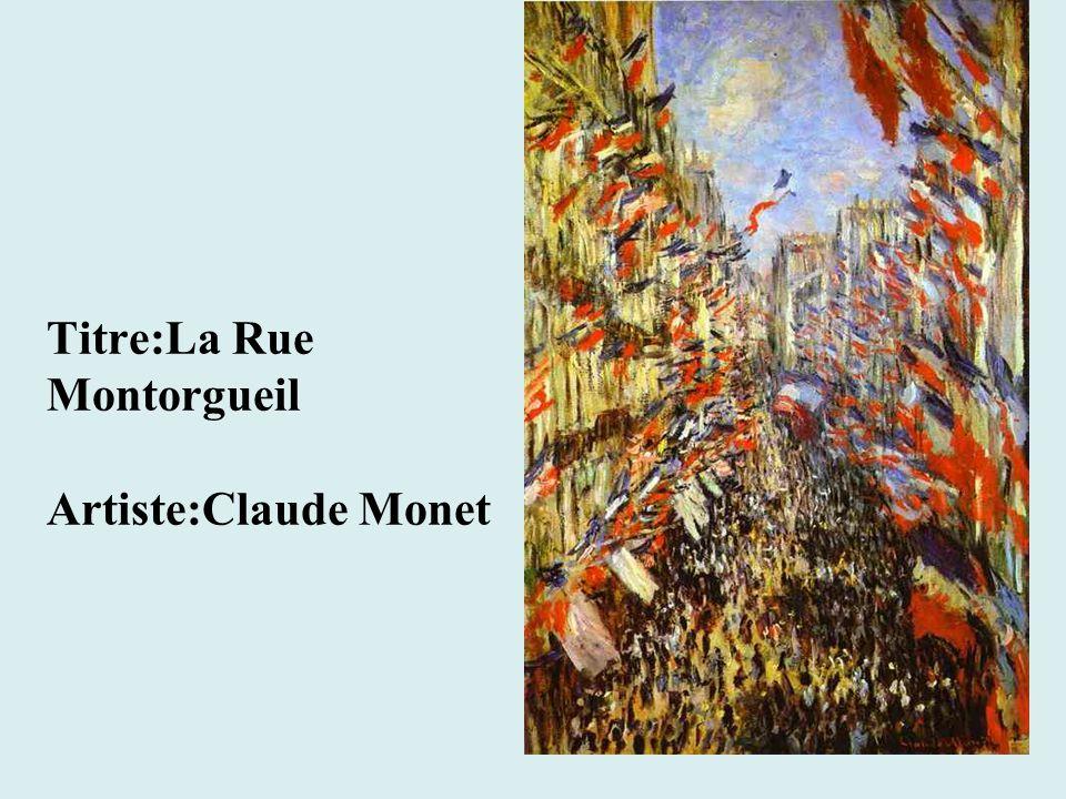 Titre:La Rue Montorgueil Artiste:Claude Monet