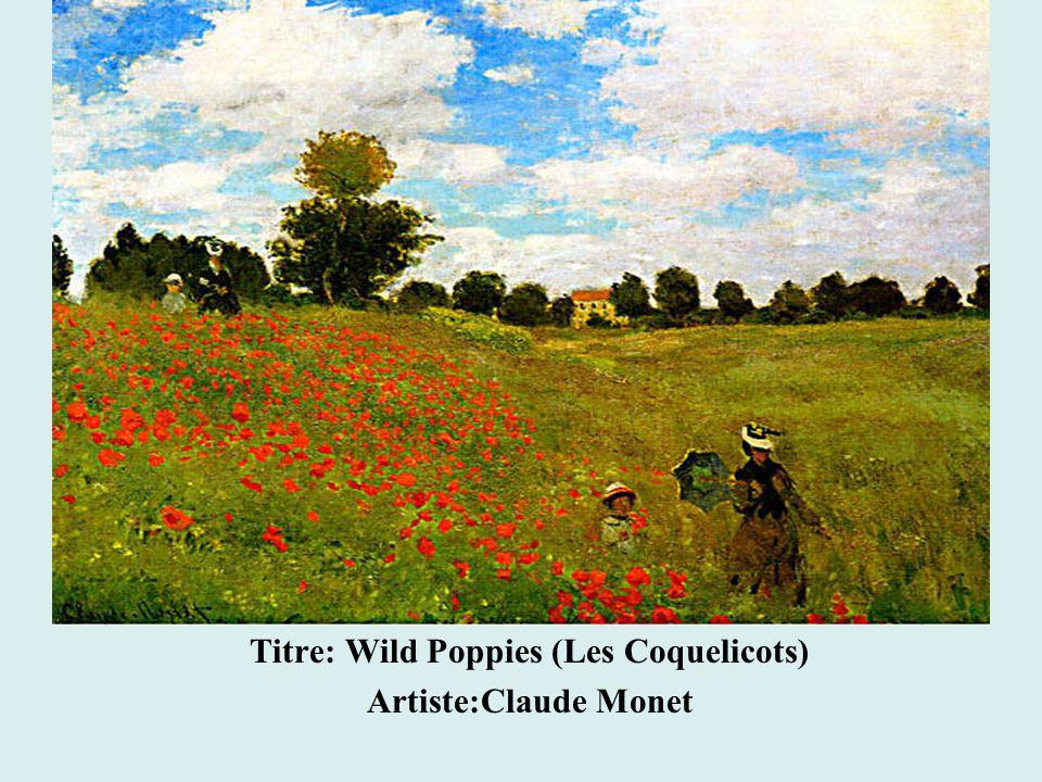 Titre: Wild Poppies (Les Coquelicots) Artiste:Claude Monet