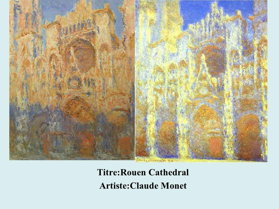 Titre:Rouen Cathedral Artiste:Claude Monet
