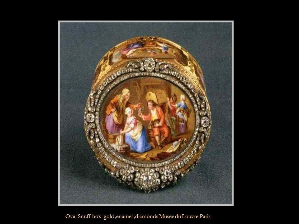 Rectangular Snuff box gold Musee du Louvre Paris