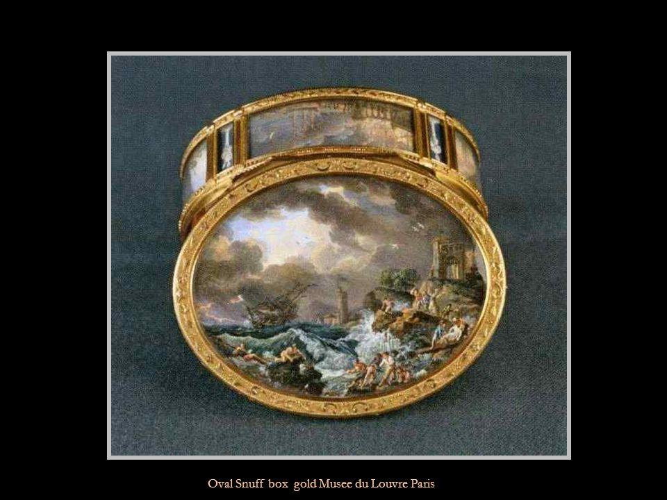 Rectangular Snuff box gold,enamel Musee du Louvre Paris