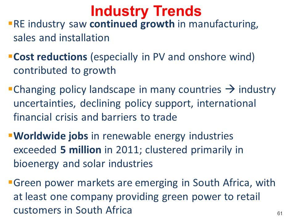 60 Industry Trends