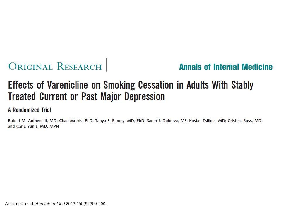 Anthenelli et al. Ann Intern Med 2013;159(6):390-400.