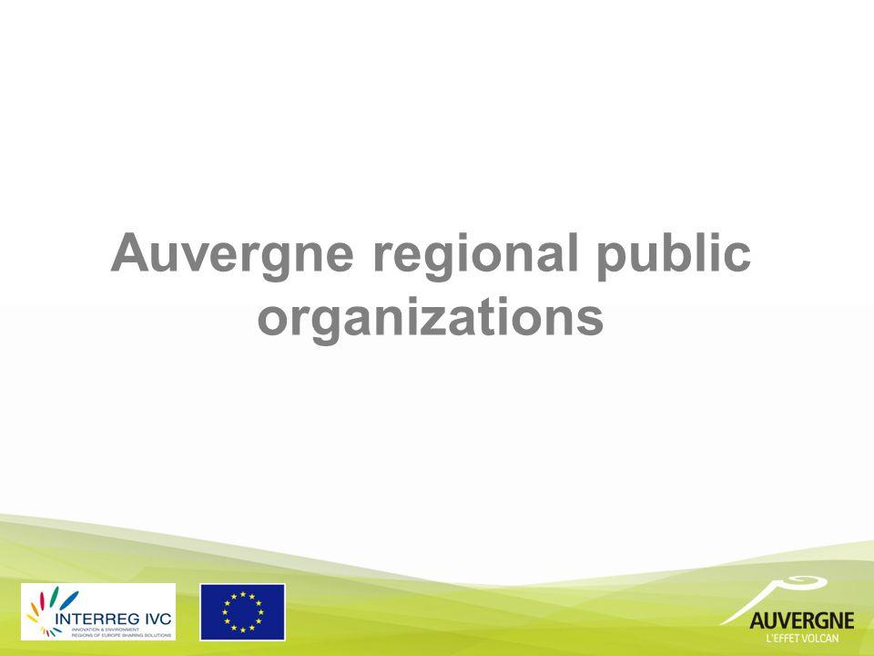 Auvergne regional public organizations