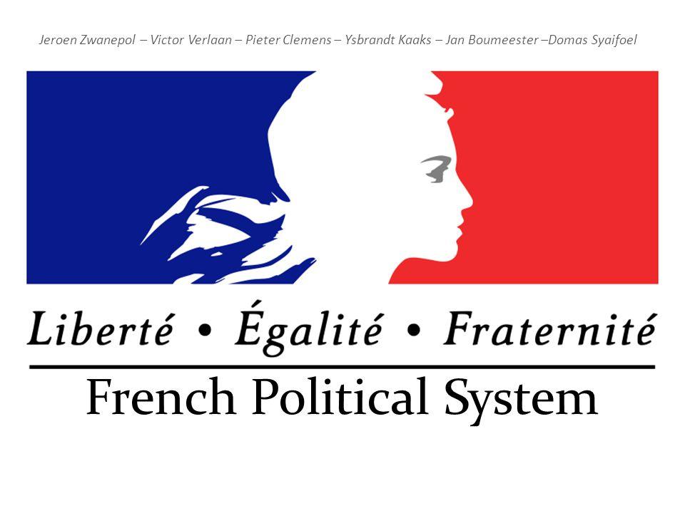 French Political System Jeroen Zwanepol – Victor Verlaan – Pieter Clemens – Ysbrandt Kaaks – Jan Boumeester –Domas Syaifoel